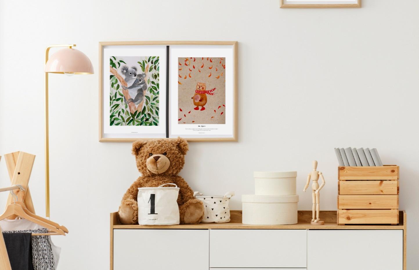 Plakater til børneværelset