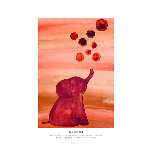 Elli Elefant blæser bobler