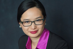 business headshot with glasses