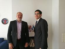 His Excellency, the Ambassado of Nicaragua in Finland ( rght) Mr. Alvarado
