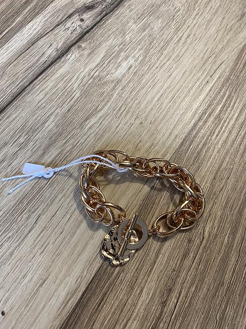 Bracelet doré gros maillon