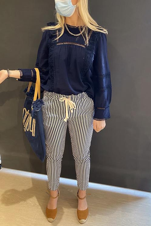 Pantalon rayure