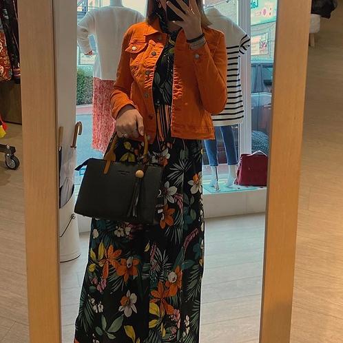 Veste jean's orange