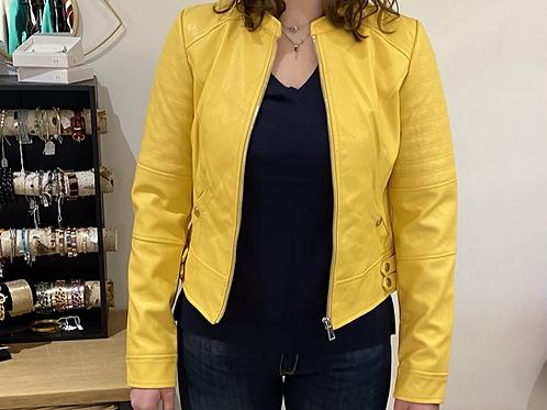 Veste coated jaune