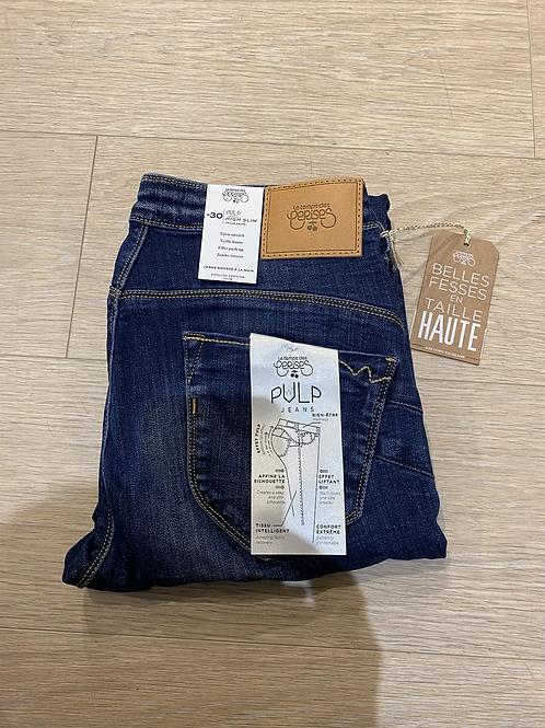 Jeans pulp taille haute le temps des cerises