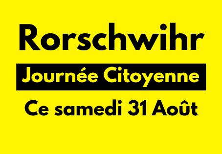 Journée Citoyenne de Rorschwihr Samedi 31 Août