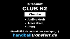 Club de N2 cherche des joueurs (possibilité de contrat pro, semi-pro,...)