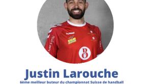 Justin Larouche, arrière droit 🇨🇦, dans le championnat de D1 Suisse.