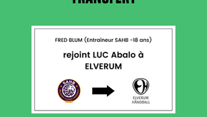 Fred Blum (Entraîneur -18 ans au SAHB) rejoint Luc Abalo à Elverum