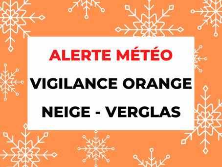 Alerte météo VIGILANCE ORANGE : Neige - Verglas