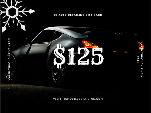 JC Auto Detailing Gift Card