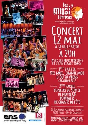 """""""Portraits de chants de fête"""" - Concert du 12 Mai à la Halle Pajol"""