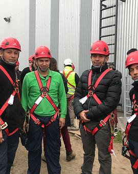 Trabajadores HPC CHILE, Trabajon en alturas