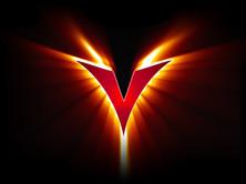 V flames trademarked logo