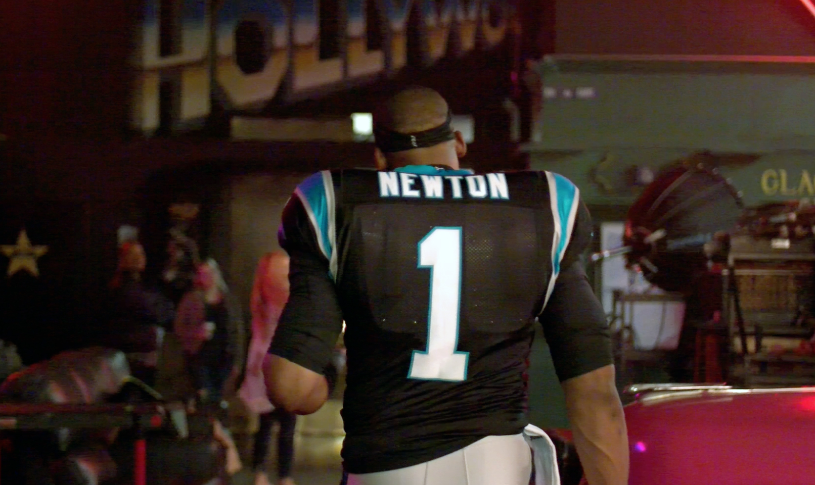 CAM NEWTON IN STUDIO