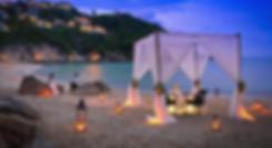 cérémonie laïque sur la plage corse