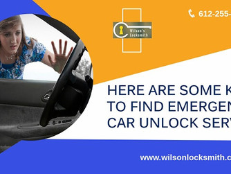 Here Are Some Keys to Find Emergency Car Unlock Services