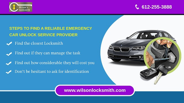 Steps to find a reliable emergency car unlock service provider
