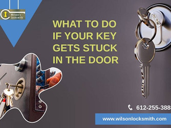 Key Gets Stuck in The Door!! - What to Do?