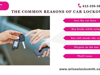 General Reasons of Car Lockouts When You Need Locksmith Service