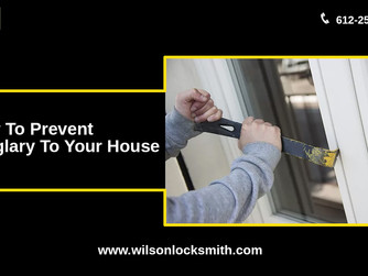 Get help from a locksmith to prevent burglary & accident