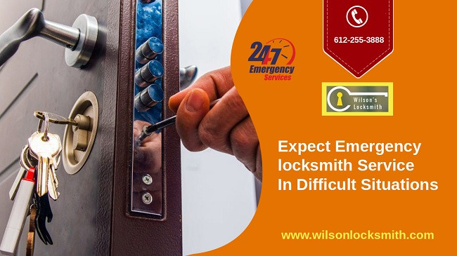Expect emergency locksmith service in difficult situations