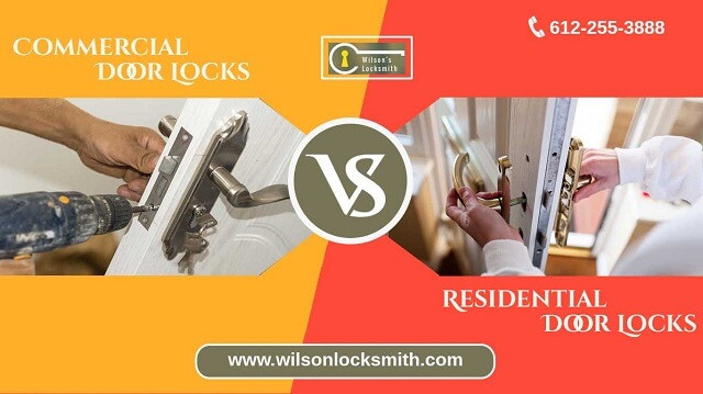 Commercial door lock vs residential door lock