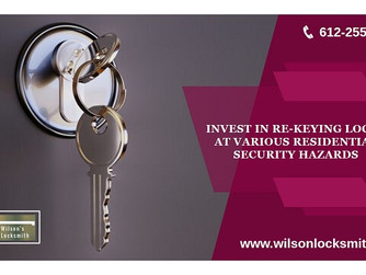 Invest in Re-Keying Locks at Various Residential Security Hazards