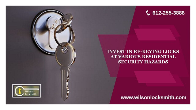 Invest in re-keyinglocks at various residential security hazards