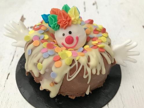 Clown - donut - chocolade