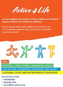 Active 4 Life updated leaflet front Jan