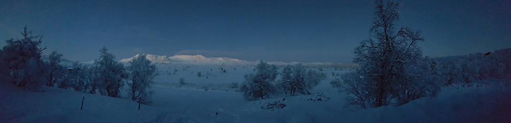 Vinter stillhet i fjellet