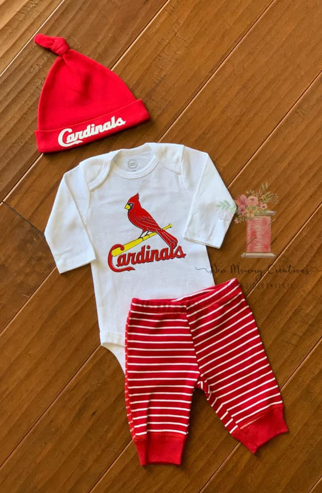 new product 33648 e4c2a Embroidered St. Louis Cardinals Baby Wear - EDIT ME