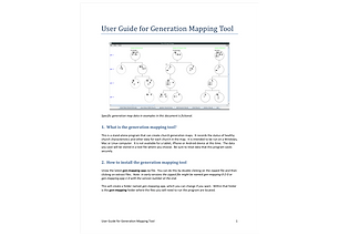Mapping tool for generational growth of churches.