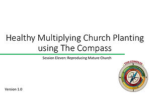 Training series for a church planting/missionary team to engage Mature Churches target area/people group and help them grow in number and maturity until they reach the next stage.