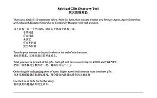 Various spiritual gift surveys