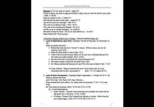 Various Spiritual Retreat Formats
