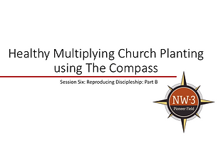 Training series for a church planting/missionary team to develop and deploy biblical, reproducible discipleship well amongst your target people group.