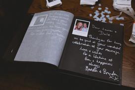 polaroids in wedding album
