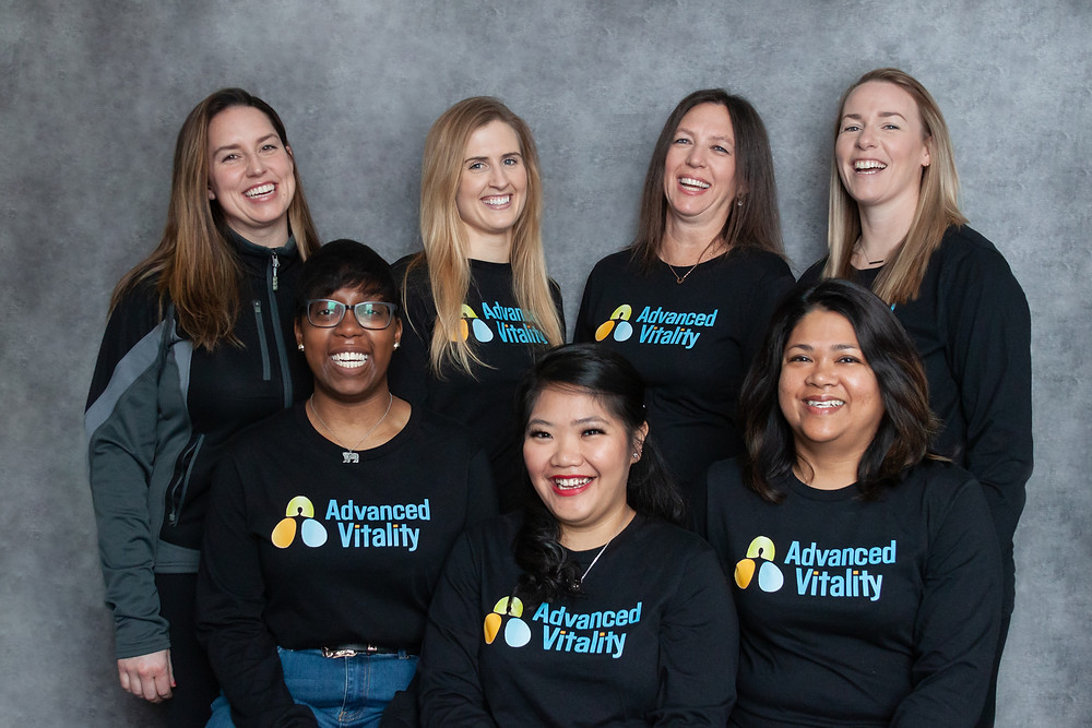 Some of our awesome clinic staff. (Shown here but no longer with Advanced Vitality: Shanique)