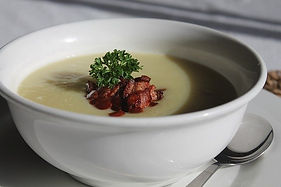 Pulled Duck and Leek Soup