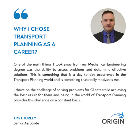 Why a career in Transport Planning?