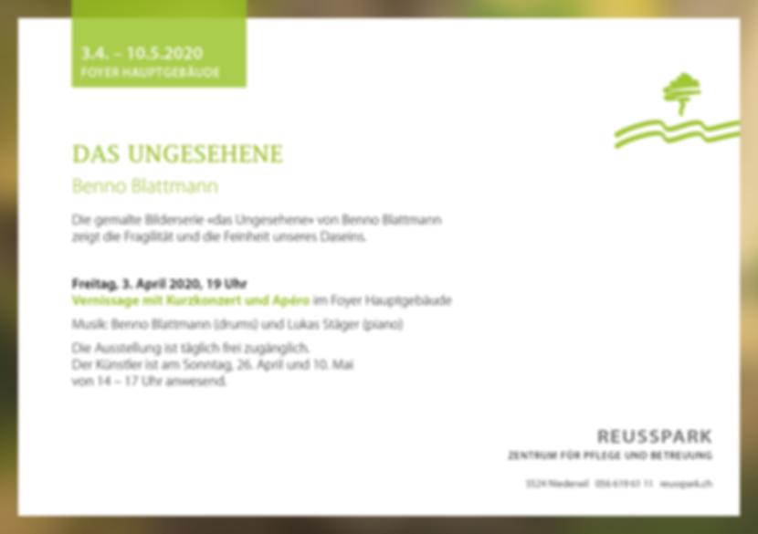 Reusspark_das Ungesehene_Ausstellung Ben