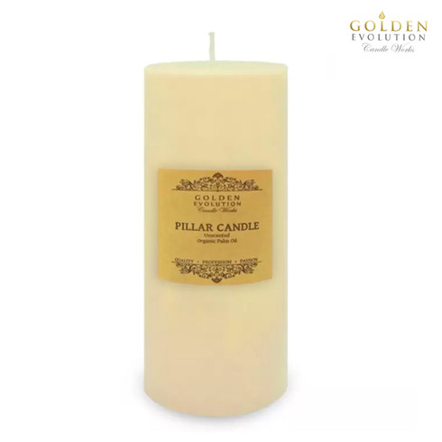 """Unscented 3"""" x 9"""" Ivory Pillar Candle"""