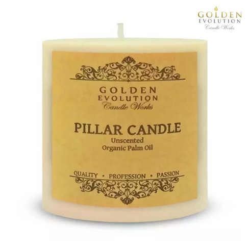 """Unscented 3"""" x 3"""" Ivory Pillar Candle"""