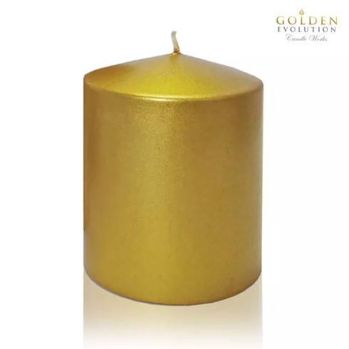 """Unscented 3"""" x 3"""" Gold Pillar Candle"""