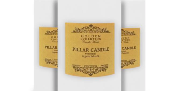 """GE Candle Works [Set of 3] Unscented 2"""" x 4"""" Pillar Candle (White)"""