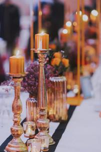 Metallic Gold Pillar Candles