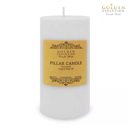 """Unscented 3"""" x 6"""" White Pillar Candle"""