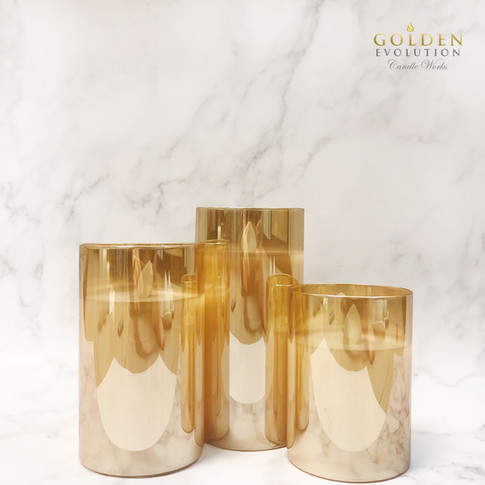 Glass LED Candle - Gold